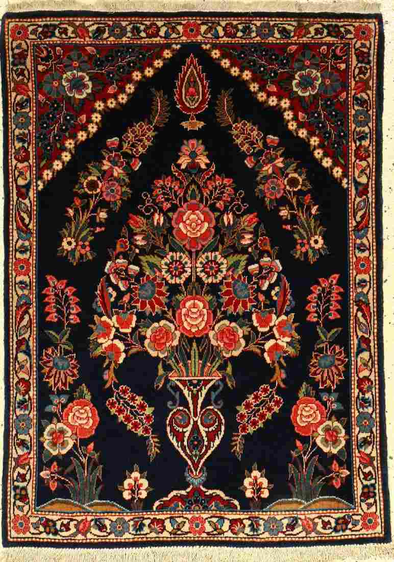 Fine Kaschan rug old, Central Persia, around 1930, wool