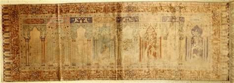 Kaisery rug silk, Turkey, around 1940, pure natural