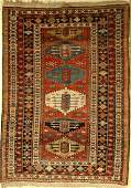 Antique Baku Rug, Caucasus, around 1910, wool on wool