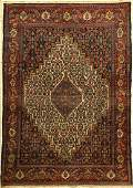 Feiner Senneh old rug, Persia, around 1930, wool on