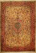 Tabriz fine old carpet 50 RAJ Persia around 1950