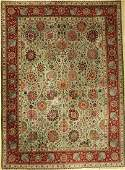 Tabriz fine carpet Persia around 1950 wool on cotton