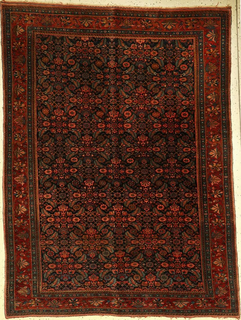 Bidjar fine rug, Persia, around 1940, wool on cotton