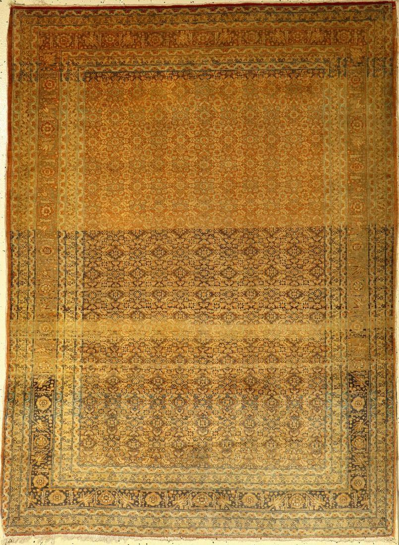 Fine Tabriz antique rug, Persia, around 1900, wool on