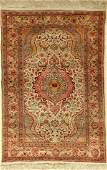 Silk Kaisery old rug, Turkey, approx. 50 years, pure