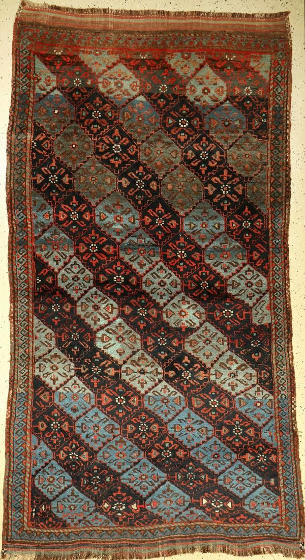 Kordi old rug, Persia, around 1940, wool on wool