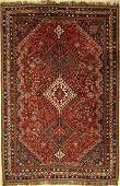 Shiraz old carpet Persia around 1940 wool on wool