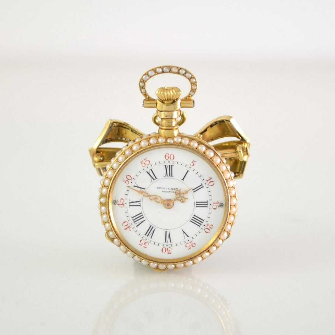 RETOURET Geneve fine 18k pink gold pocket watch
