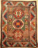 Green Bordjalou Kasak antique, Caucasus, 19th century