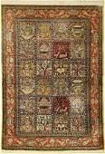 Fine silk Qum, Persia, approx. 50 years, pure natural
