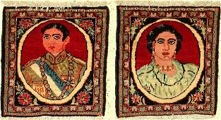Khorassan Rug (Shah Pahlavi and Soraya), Persia