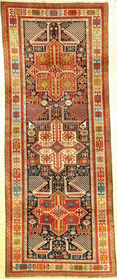 Akstafa Kasak antique, Caucasus, 19th century,wool on
