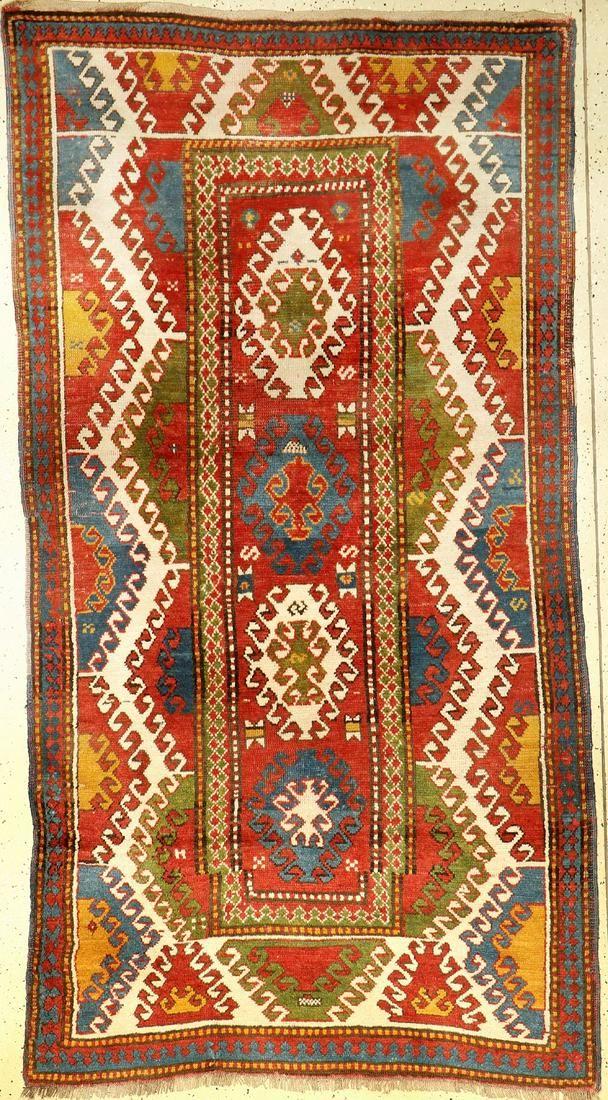 Bordjalou Kazak antique, Caucasus, around 1900, wool
