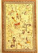 Very fine silk Qum (signed), Persia, approx. 15 years