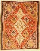 Senneh Kilim old Persia around 1920 wool oncotton
