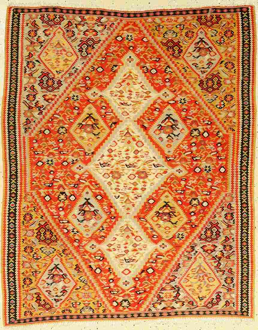 Senneh Kilim old, Persia, around 1920, wool oncotton