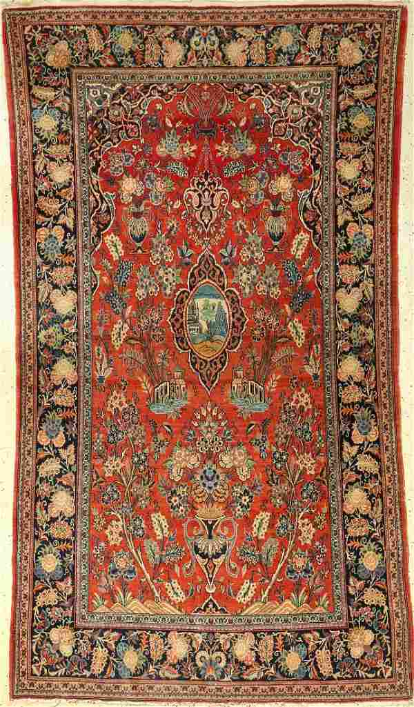 Kashan old, Persia, around 1940, wool, approx.228 x 127
