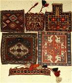 (5 lots) old bags, Persia, around 1920-1950, wool on