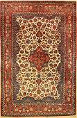 Isfahan old, Persia, approx. 60 years,wool on cotton