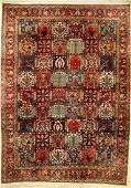 Bakhtiar old Persia approx 60 years wool on cotton