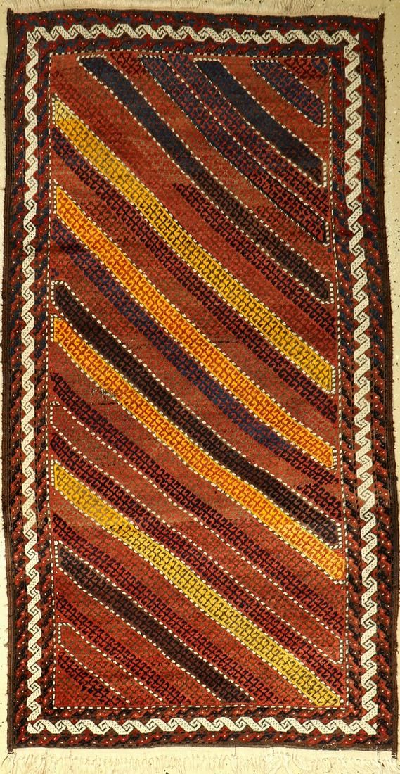 Rare striped Baluch, old, Persia, around 1940,wool on
