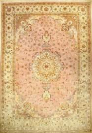 Fine Tabriz large carpet (part silk) signed (50 RAJ)