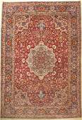 Esfahan fine, Persia, around 1930, wool, approx. 380