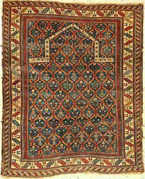 Kuba Schirwan prayer rug, antique, Caucasus, 19th