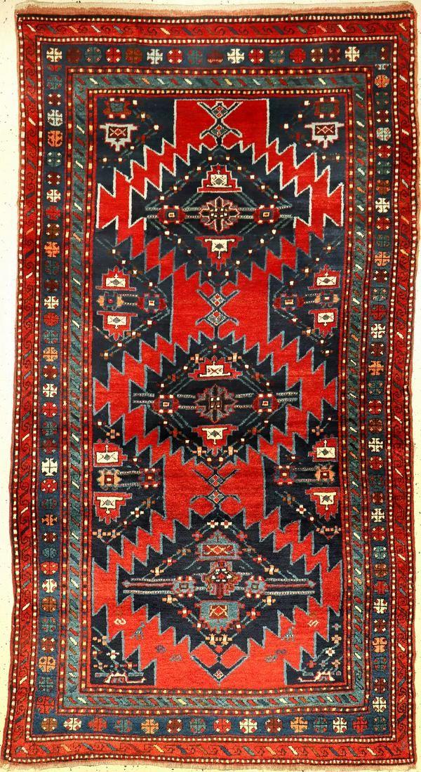 Karabagh old, Caucasus, around 1930, wool on wool