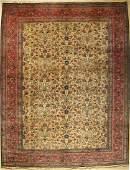 Tabriz old Persia around 1940 wool on cotton