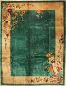 Green Beijing old, China, around 1920, wool, approx.