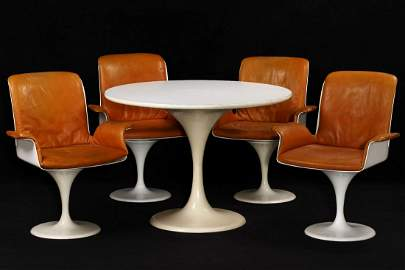 Table with 4 chairs, 'Herman Miller', around 1965/70