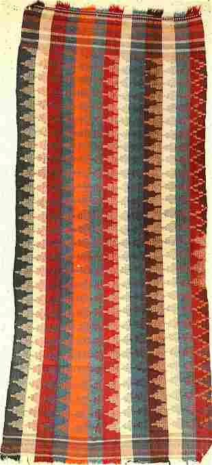 Gashgai-Moj Kilim old, Persia, around 1940, wool on
