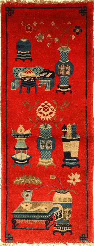 Pao Tao antique, China, around 1900, wool on cotton