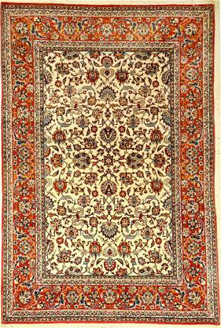 Fine Esfahan old, Persia, approx. 40 years, wool on