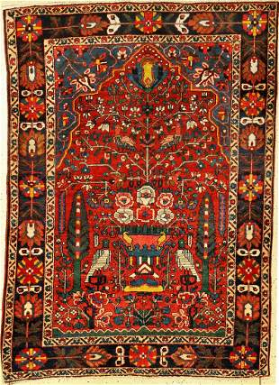 Bakhtiar old, Persia, approx. 60 years, wool on cotton