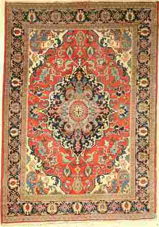 Tabriz old, Persia, approx. 70 years, wool on cotton