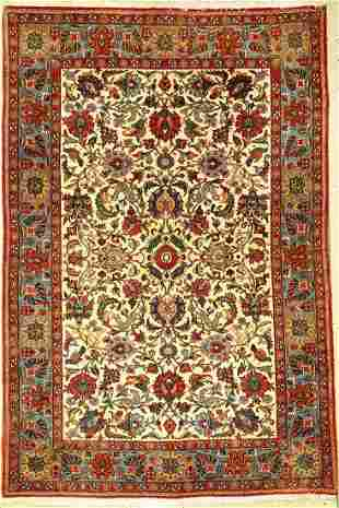 Fine Qom old, Persia, approx. 50 years,wool, approx.