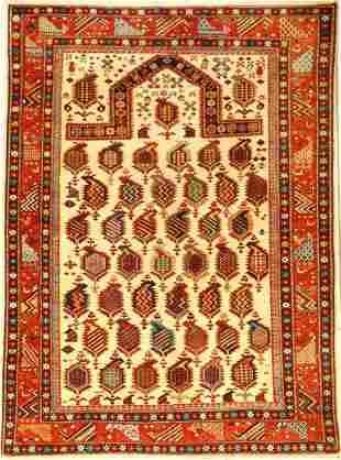 Fine Azeri Schirwan, approx. 30 years, wool oncotton