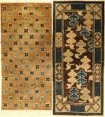 (2 lots) Antique Chinese rugs, China, 19th century