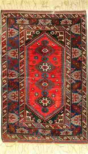 Dsemalti rug old Turkey approx 50 years wool on