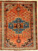 Afschar rug old, Persia, around 1940, wool on cotton