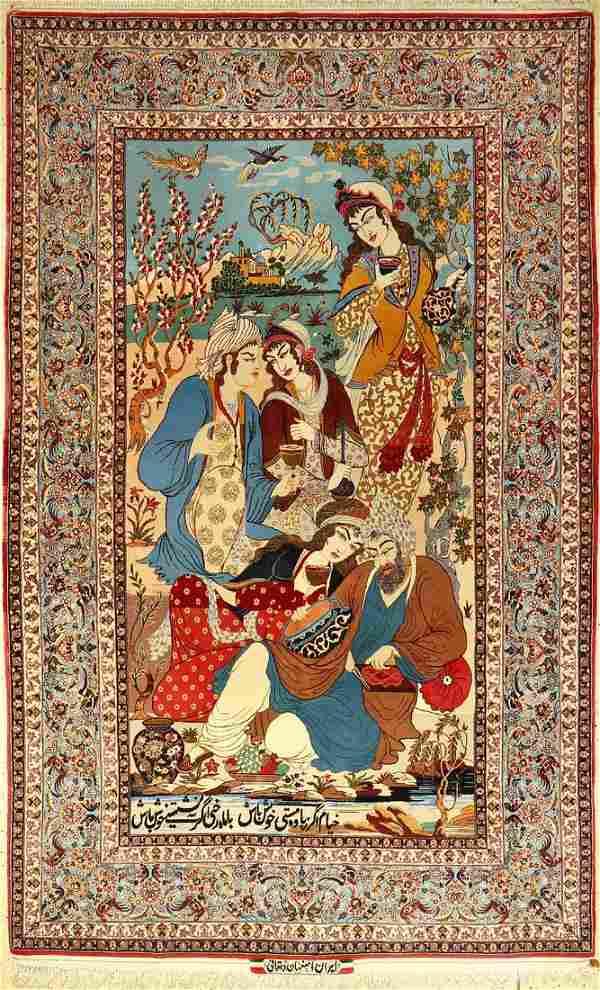 Fine Esfahan 'Dehgani' old (signed), Persia, around