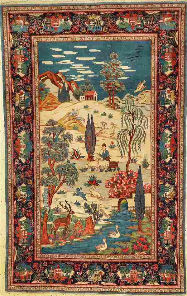 Keschan old, Persia, around 1930, wool, approx. 216