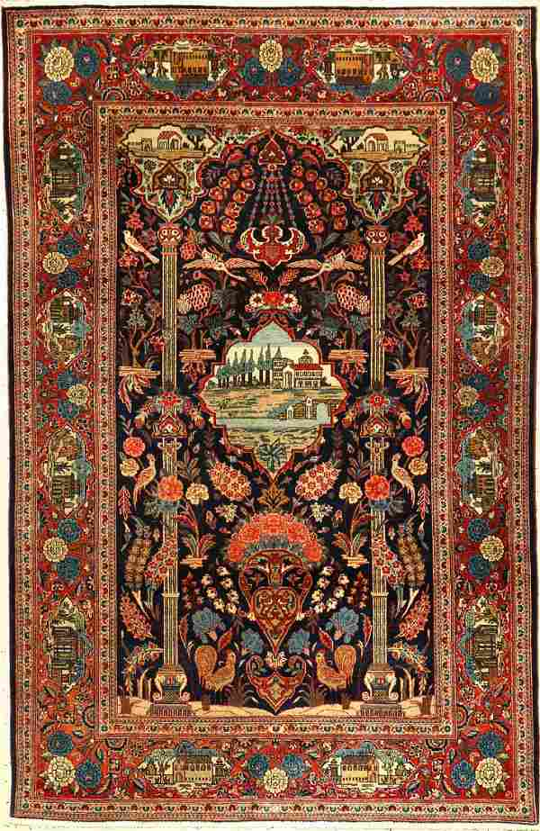 Keschan old, Persia, around 1930, wool, approx. 206