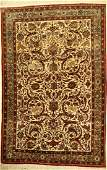Fine silk Ghom old, Persia, around 1950, pure natural