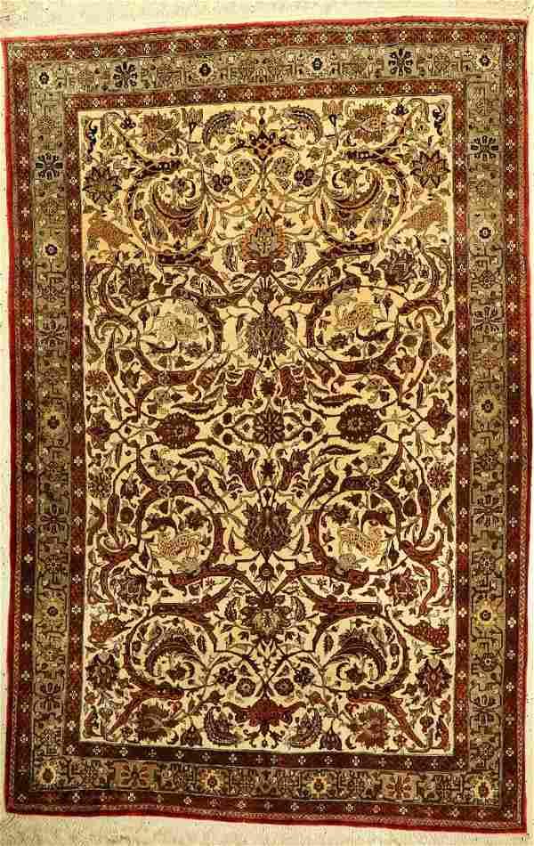 Fine silk Ghom old, Persia, around 1950, pure natural