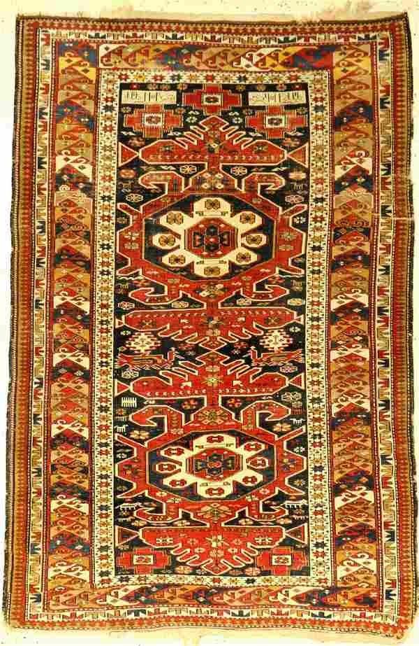 Antique Shirvan, Caucasus, around 1900, wool on wool