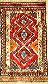 Gaschgai Kilim old Persia around 1940 wool on wool
