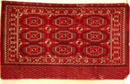 Tekke Tschowal old, Turkmenistan, around 1910,wool on